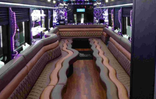 Limo Party Bus White for 40