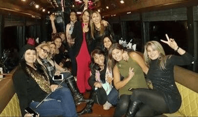 24 Pass Party Bus with Pole