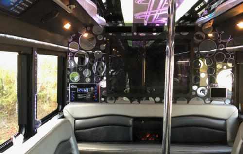 28 Pass Party Bus with Pole