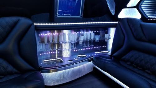 20 Passenger Cadillac Escalade White Jet Door Stretch Limo 2