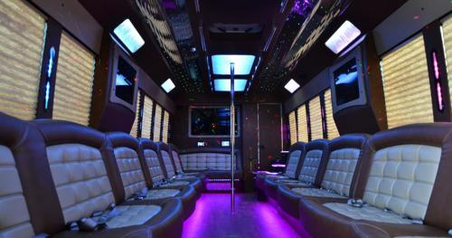 Limo Party Bus for 35 with Lavatory