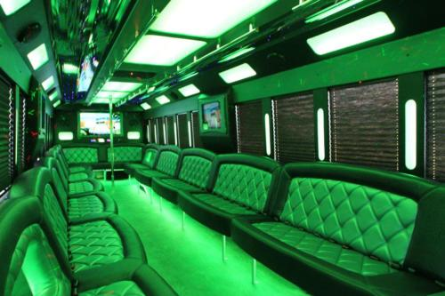 Tiffany Limo Party Bus White for 50