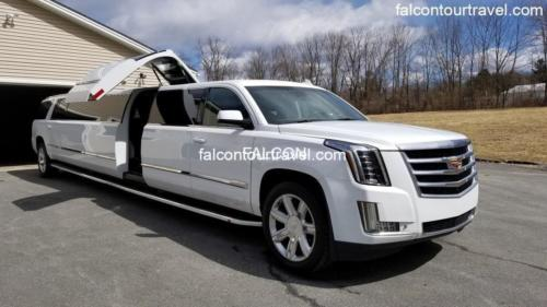 20 Passenger Cadillac Escalade White Jet Door Stretch Limo 1