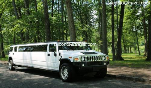 20 Passenger White Hummer H2 Stretch Limousine 1
